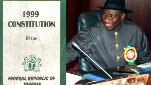 Vice President Jonathan Goodluck is empowered by the 1999 Constitution