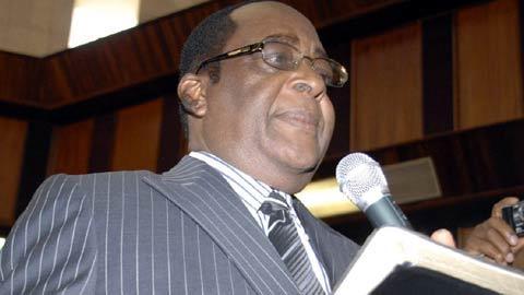 Chief Justice of Nigeria, Justice Aloysius Katsina-Alu during his swearing-in