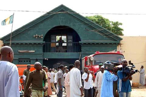 File photo: The Kaduna Central Prison in the early hours of Tuesday.