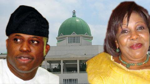 Speaker, Hon Dimeji Bankole and  Senator Joy Emordi