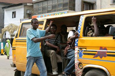 A Lagos commercial bus popularly called DANFO