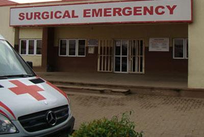 Emergency ward of LASUTH during the strike.