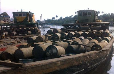 Vessels loaded with illegaly refined products