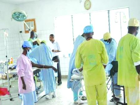 A typical scene at an emergency ward of a Lagos State government hospital before the protracted doctors strike.