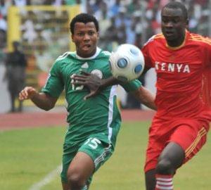 Ikechukwu Uche, who scored a goal against Ethiopia scored yet another goal against Kenya.Photo courtesy supersport