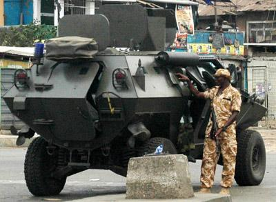 Security in Lagos.