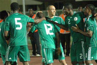 File photo: Osaze, Yobo and other  team mates.