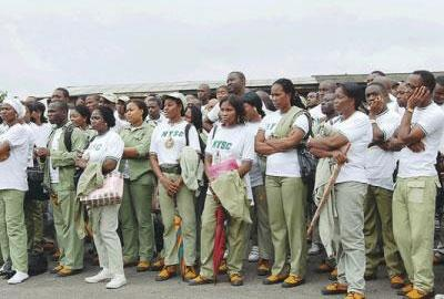 File photo: cross session of corps members