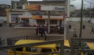 •An  Oando Filling Station that was also raided by the robbers.