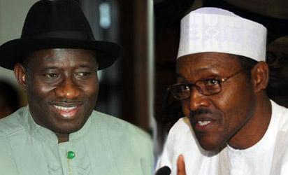 President Goodluck Jonathan and Gen. Muhammadu Buhari (rtd)
