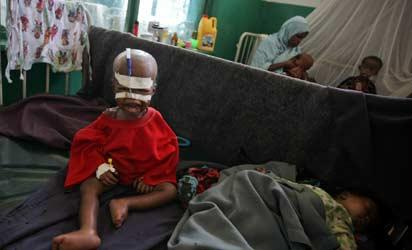 *A child in hospital