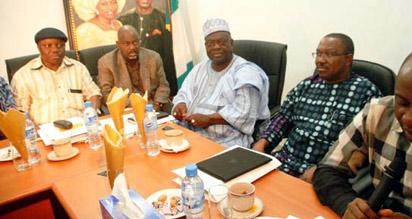 From left; Governor Emmanuel Uduaghan of Delta State, Governor Liyel Imoke of Cross River State, Governor Babangida Aliyu of Niger State, Governor Peter Obi of Anambra State and Governor Rotimi Amaechi  of Rivers State and Chairman of Governors' Forum, during a meeting of the governors in  Abuja.