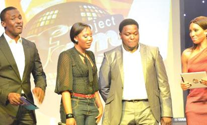 The two evictees, Velma and Isaac flanked by Adoral Oleh (right) and Joseph Benjamin (left)