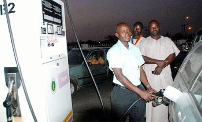 NNPC Mega Filling Station now selling at N138 per litre in Abuja yesterday.