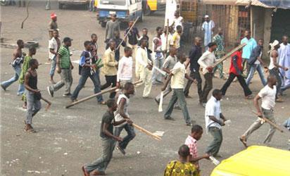 Protesting NURTW members in Lagos.