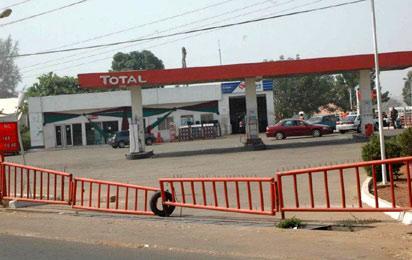 A locked Filling station in Kaduna.