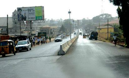 File photo: One of the roads being rehabilitated in Aba after years of neglect