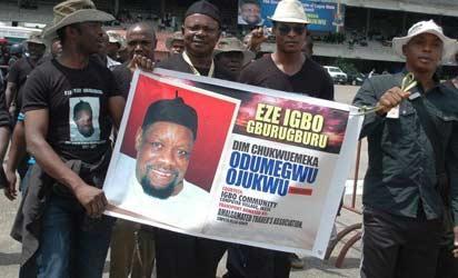 The Lagos Funeral for Late Dim Odumegwu-Ojukwu held at the Tafawa Belewa Square Lagos.