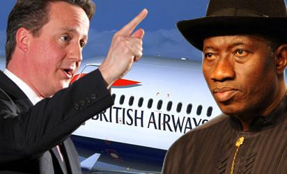 Cameron, British PM. and President Jonathan