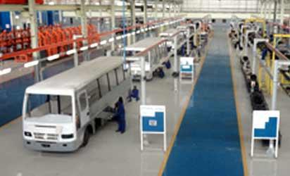 Vehicle assembling plant