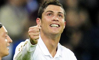 Portuguese forward Cristiano Ronaldo celebrates after scoring. AFP PHOTO