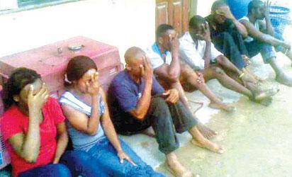 File photo:  Suspected kidnappers