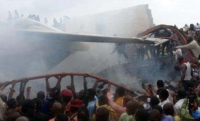 File photo: a scene of plane crash
