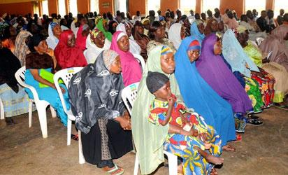 Cross section of participants during a peace advocacy visit to Dadin Kowa Muslim Community, in Jos on Wednesday (30/5/12). NAN Photos