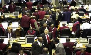 File photo: The  floor of Stock exchange