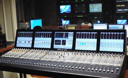 A digital broadcast studio