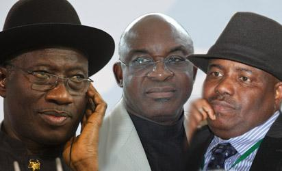 President Jonathan; Senate President, David Mark and Speaker, House of Reps, Hon Aminu Tambuwal