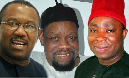 Gov Peter Obi, Late Odumegwu Ojukwu and Victor Umeh