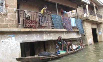 File Photo: Flood submerged buildings at Umueze Anam, Anambra west LG
