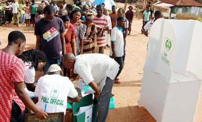 Cross section of voters during the Ondo Governorship election, yesterday.