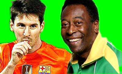 Pele congratulates Messi for breaking goal-scoring record