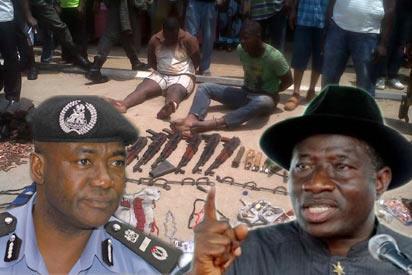 IGP Abubakar and President Jonathan