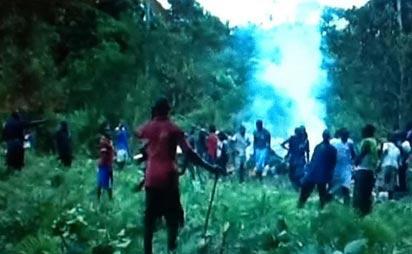 Scene of the crash, near Okoroba in Nembe Local Government Area of Bayelsa state. Photo: Samuel Oyandongha.