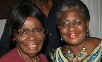 Finance Minister, Ngozi Okonjo Iweala and her mother, Prof. Kamene Okonjo