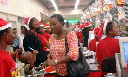 File: Christmas shopping in Nigeria