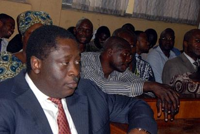 Babalakin in court, Thursday in Lagos.