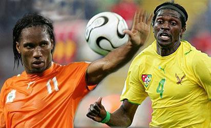 Drogba and Adebayor