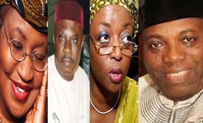 Okonjo Iweala, Mike Oghiadomhe, Allison -Madueke and Doyin Okupe