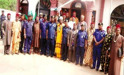 *NSCDC top shots from Imo state during their parley with royal fathers from the state