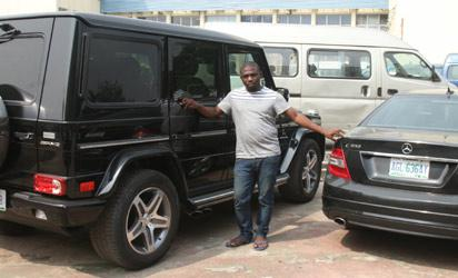 One of the suspects and his cars