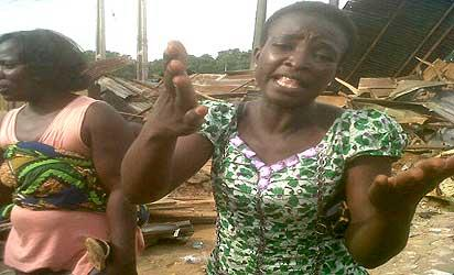*Victims of the Ibadan demolition