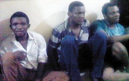 *Suspected  kidnappers with Nonso, first right.