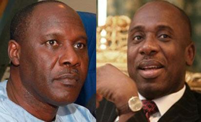 Minister of Niger Delta, Elder Godsday Orubebe and Governors Forum, NGF and Rivers State Governor, Mr  Rotimi Amaechi,