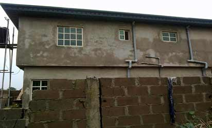 *The building on Frank Ogbor Close which has underground pipes connected from NNPC pipeline