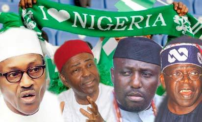 Buhari, CPC; Onu,ANPP; Okorocha, APGA and Tinubu, ACN