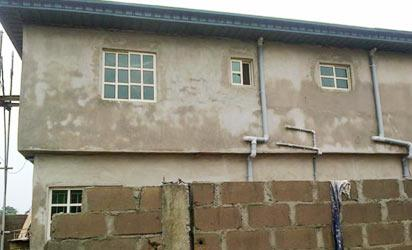 •The building on Frank Ogbor Close which has underground pipes connected  from NNPC pipeline